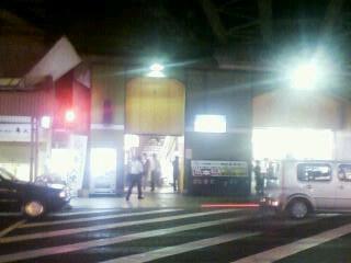 19:45鶴橋駅近くにて