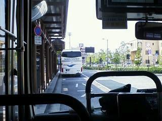 8:57八木駅南口を出発