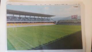 今日の朝刊!AC長野パルセイロのホームスタジアムの写真が・・・・・